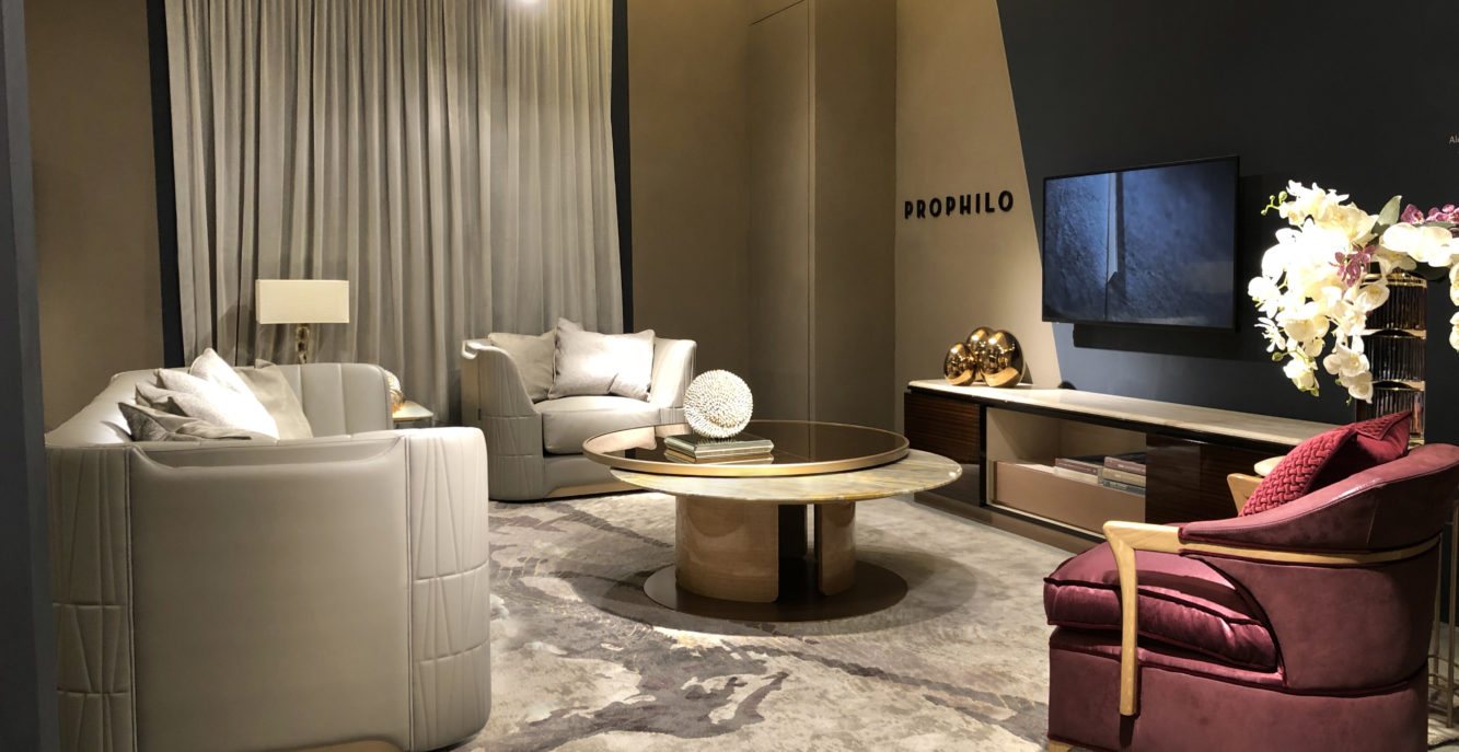 Prophilo was presented collection 2018 at the Salone del Mobile.Milano Shanghai  on November 22nd – 24th, 2018.